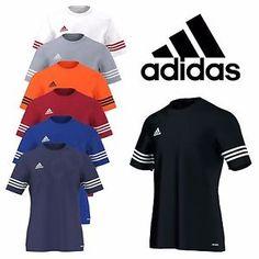 Adidas Mens T Shirt Football Training Top Gym Climalite Entrada Size M L XL  XXL Soccer Outfits c0f3f6c66