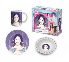 Set desayuno 3 pcs Violetta Disney - Spuma Bali - Distribuidor mayorista licencias Peppa Pig, Violetta Disney, Frozen, Disney, Marvel, Doctora Juguetes