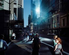 Trent Parke AUSTRALIA. Sydney. George Street. 2006.  The lighting in this image is fantastically ominous and beautiful.