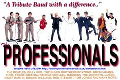 The Professionals - Combining songs and costumes of the most popular stars of the past five decades, with a large dose of comedy and audience participation, this band never fails to impress any age group.