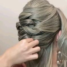 Medium Hair Styles, Curly Hair Styles, Short Hair Braid Styles, Easy Hairstyles For Long Hair, Updos For Fine Hair, Simple Hair Updos, Updos For Medium Length Hair, Fine Curly Hair, Mid Length Hair