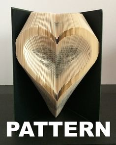 This listing is for a book folding pattern which will enable you to create your own finished book. This pattern: Heart outline – 147 folds (294 pages) - 21cm book (minimum) Your pattern will automatically download as a pdf on receipt of payment. You will also receive comprehensive instructions with easy to follow pictures. These will take you through every step of how to fold a book. The instructions will show you how to calculate the number of pages you need in your book in order to…