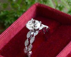 Elegant Affordable Custom Moissanite by SolitaireRingJeweler Moissanite Diamonds, Moissanite Rings, Bridal Rings, Wedding Rings, Diamond Rings, Solitaire Ring, Gold Ring, Mother Of Pearl Earrings, Rings For Her