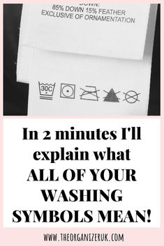 Are you bamboozled by all the symbols on the labels of your clothes? Print off our FREE washing instructions chart and get unbamboozled! Household Cleaning Tips, Cleaning Hacks, Washing Machine Symbols, Laundry Symbols, Handwashing Clothes, Laundry Hacks, I Need To Know, Sign I, As You Like