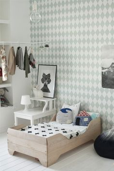 Deco and Living: Un cuarto infantil muy guay Girl Room, Girls Bedroom, Bedroom Ideas, Trendy Bedroom, Calm Bedroom, Child's Room, Bedroom Bed, Bedroom Decor, Wall Decor