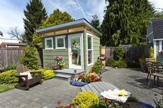 Prefabricated sheds for your backyard office, studio, hobby room, or living space. Prefabricated Sheds, Studio Shed, Modern Shed, Backyard Office, Free Shed Plans, Highlands Ranch, She Sheds, Design Firms, Farmhouse Decor
