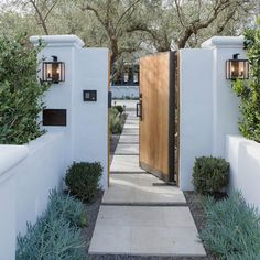 exterior from What a . - - Beautiful exterior from What a … – -Beautiful exterior from What a . - - Beautiful exterior from What a … – - Fence Design, Garden Design, House Gate Design, Door Design, House Entrance, Garden Entrance, Courtyard Entry, House Doors, Patio Entrance Ideas