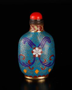 Chinese Cloisonnne Snuff Bottle.