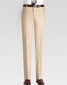 Pronto Uomo Platinum Modern Fit Linen Suit Separates Dress Pants, Tan - Mens Home - Men's Wearhouse