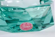 Moser Glass Art Deco Ashtray