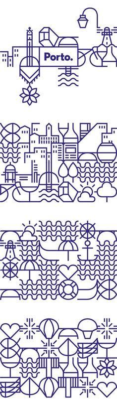 Illustration / New identity for the city of Porto on Behance