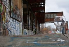 A Glass at the abandoned and partially torn down Glassfabrik #berlin #urbex