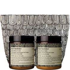 Aesop-Marimekko Sauna Duet, $80. I want this so bad, and just my luck - out of stock.