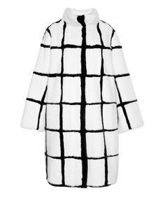 Helen Yarmak white and black mink coat, price upon request modaoperandi.com - Photo: Courtesy of modaoperandi.com