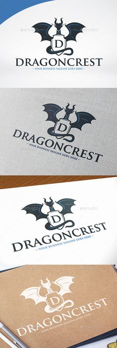 Dragon Crest Logo Template — Photoshop PSD #china #dark • Available here → https://graphicriver.net/item/dragon-crest-logo-template/14510197?ref=pxcr
