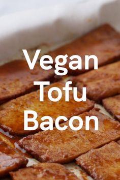 Vegan Meat Recipe, Vegan Dinner Recipes, Vegetarian Recipes, Firm Tofu Recipes, Vegetarian Bacon, Bacon Recipes, Veggie Recipes, Whole Food Recipes, Cooking Recipes
