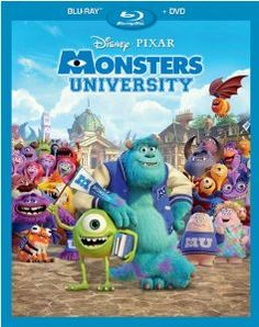 Monsters University (Blu-ray + DVD Combo) on Blu-ray from Disney / Buena Vista. Directed by Dan Scanlon. Staring Sean Hayes, Dave Foley, Helen Mirren and John Goodman. More Comedy, Fantasy and Family DVDs available @ DVD Empire. Disney Pixar, Walt Disney Movies, Disney Monsters, Monsters Inc, Disney Magic, Disney List, Pixar Movies, Comic Movies, Cartoon Movies
