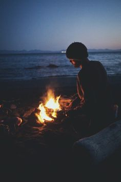 bonfire on the beach Adventure Awaits, Outdoor Camping, The Great Outdoors, Seaside, Life Is Good, In This Moment, Explore, Beach, Places