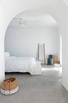 Thank you for pinning one of our projects! barefootstyling.com  Summer house on the mountain by Kapsimalis Architects features partition walls placed between terraces