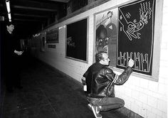 Keith Haring – Subway Drawings In the early 80s Keith Haring created hundreds of drawings in the New York subway system. He used chalk to paint on unused advertising space, which was covered with black sheets of paper. Haring was … Continue reading →