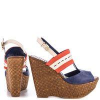 Kinhem Royal Blue Combo Sandals by Jessica Simpson #shoeaholic