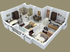 Designer House Plans two bedroom small house plans under 1000 sq ft 3d designs with