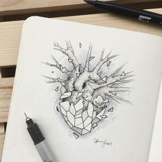 corazon ideas de disenos de tatuajes de animales