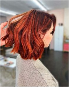 Red Ombre Hair, Red Hair Color, Red Bob Hair, Red Hair With Dark Roots, Red Hair Dark Roots, Red Color, Short Auburn Hair, Auburn Bob, Deep Auburn Hair