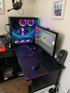 6 month project photos regarding PlayStation including gamer shots as well as to see where VR is going, is VR right here to stay as a video gaming console or is it industrial. Best Gaming Setup, Gamer Setup, Gaming Room Setup, Pc Setup, Cool Gaming Setups, Computer Gaming Room, Computer Desk Setup, Home Music, Bedroom Setup
