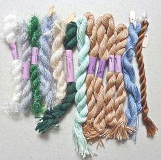 Needle Necesssities: 13 Assorted Overdyed Threads #NeedleNecessities