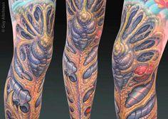 Guy Aitchison tattoo on leg