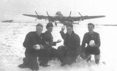 """Winter at Kelstern Avro Lancaster """"Dog on it's dispersal pan in the background Aviation Image, Aviation Art, Lancaster Bomber, Air Force Aircraft, Royal Air Force, World War Two, Wwii, Commonwealth, Flyers"""