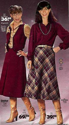 Fashion: The Flamboyant Fashion Revolution Seventies Fashion, 70s Fashion, Fashion History, Modest Fashion, Vintage Fashion, Fashion Outfits, Womens Fashion, Fashion Trends, Vintage Skirt