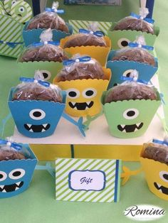 Treats at a monster birthday party! See more party ideas at CatchMyParty.com!