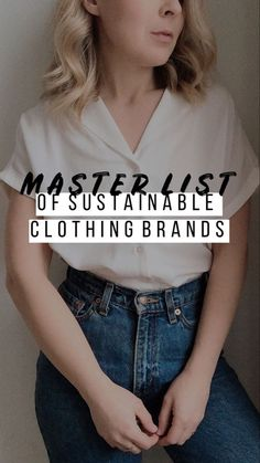 Feb 20 2020 - A full list of sustainable brands in one easy spot! Fashion Moda, Fast Fashion, Slow Fashion, Hijab Fashion, Sustainable Clothing Brands, Sustainable Fashion, Sustainable Living, Sustainable Clothes, Sustainable Style