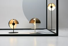The 'Theia' floor and table lamps by Mathias Hahn for Spanish brand Marset. The…