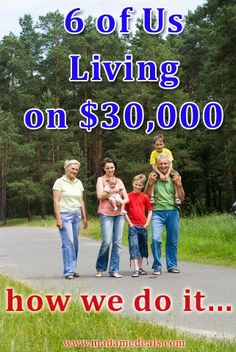 This is another great post on Living on $30,000 or less! Check this out if you're looking for ways to save money! See the post here --> http://madamedeals.com/living-on-30000-or-less-raising-a-family-of-6/