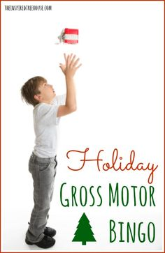A Christmas activity for kids that gets them up and moving! Make it a family game night or keep them busy while you are finishing up your holiday to-do list! Gross motor skills are fun and this game is simple and easy to play!  FREE PRINTABLE