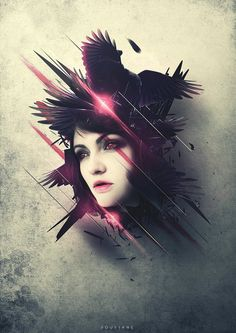 abstract lady by CGSoufiane.deviantart.com on @DeviantArt