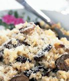 Rizoto s houbami a sýrem