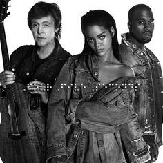 """Rihanna regressa com """"Four Five Seconds"""" ao lado de Kanye West e Paul McCartney  http://angorussia.com/entretenimento/musica/rihanna-regressa-com-four-five-seconds-ao-lado-de-kanye-west-e-paul-mccartney/"""