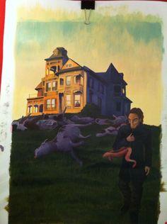 """The Dunwich Horror"" Apr '15 Acrylic on paper #classwork - Ilustración editorial"