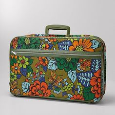 Vintage Floral Suitcase ($60) ❤ liked on Polyvore