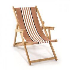 Para ir a la playa también a la moda, silla de playa Mimub marrón con rayas #Mimub #silla #playa #verano #rayas #marrón #hamaca