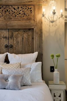 Upcycled door headboard as seen on #houserules