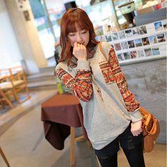 Contrast-Trim Knit Sweater