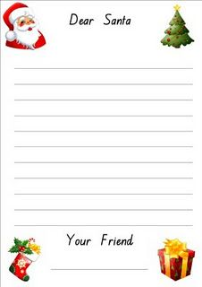 Letter to Santa template (FREE) with a variety of layouts - great for any writing ability.  :)