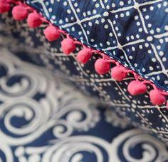 Patterns on duvet cover Navy