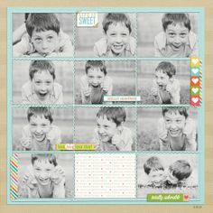 Layout by Becky using Sweetness | One Little Bird