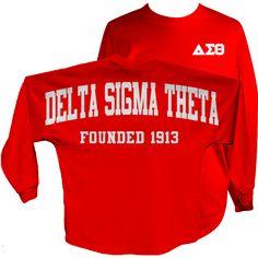 Delta Sigma Theta Vintage Stripe Jersey Letters Greek